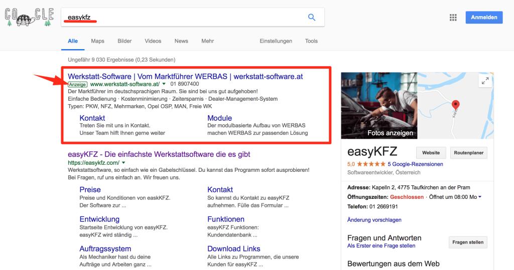 Google Suche Werbas